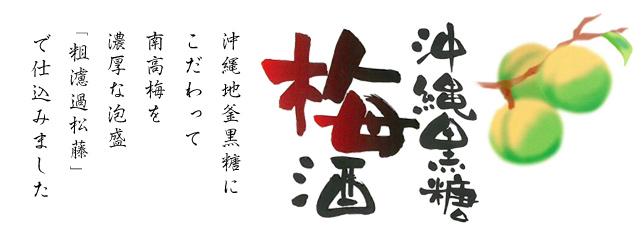 沖縄黒糖梅酒